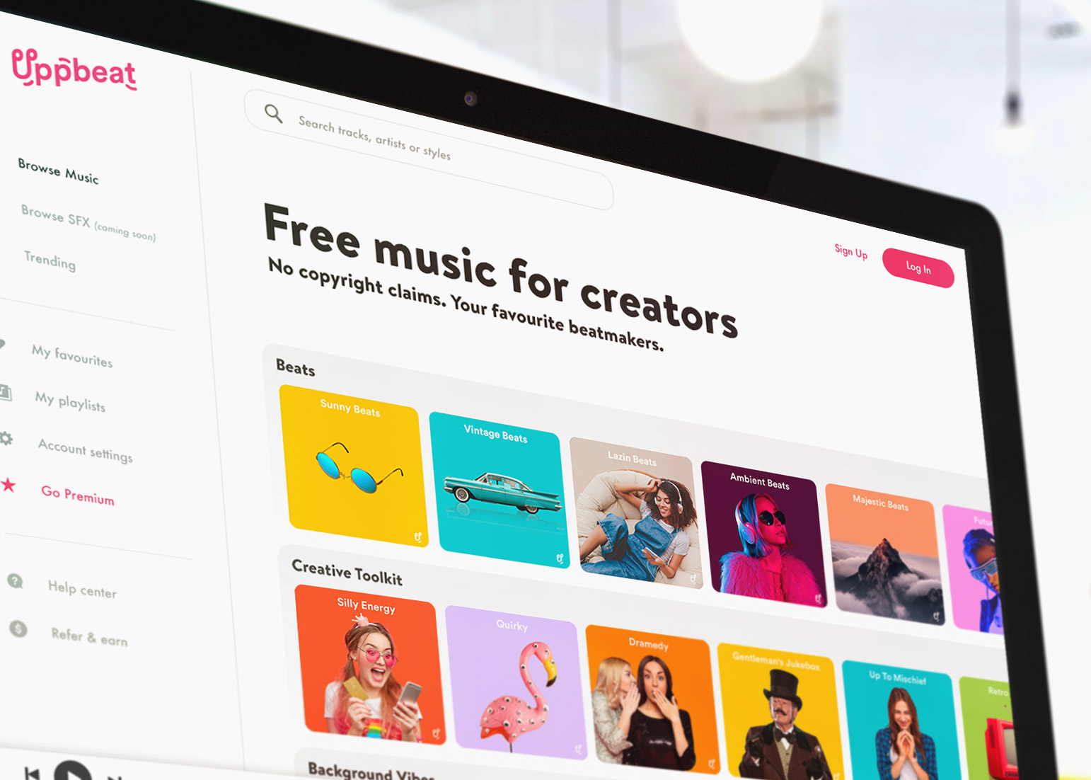 Free music service Uppbeat offers beats for YouTubers & content creators to avoid take downs